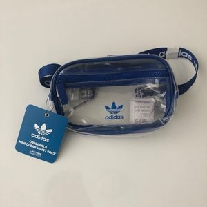 🆕NWT adidas Originals Clear/Blue Waist Pack